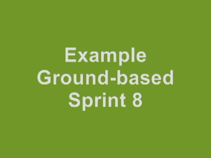 click here to see examples of ground-based Sprint  8